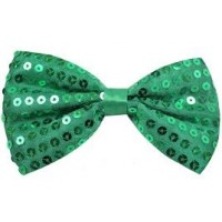 SEQUIN BOWTIE GREEN