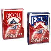 BICYCLE DOUBLE BACK RED/BLUE