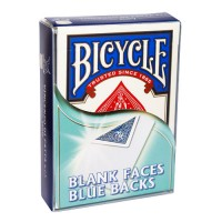 BICYCLE BLANK FACES BLUE BACKS