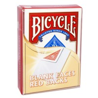 BICYCLE BLANK FACES RED BACKS