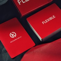 FLEXIBLE PLAYING CARDS-RED