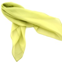 YELLOW POLYESTER SILK
